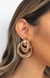 Beauty Statement Earrings Gold