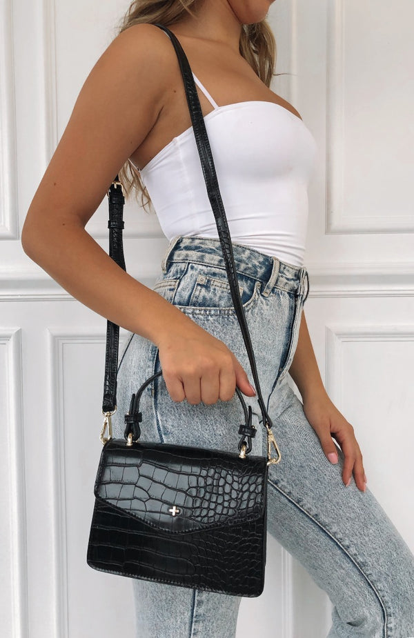 Anna Mini Bag Black Croc