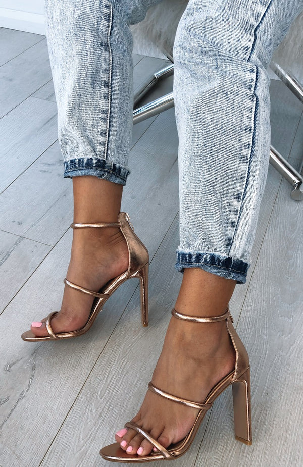 Dita Heels Rose Gold Metallic