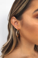 Take You Far Hoop Earrings Gold