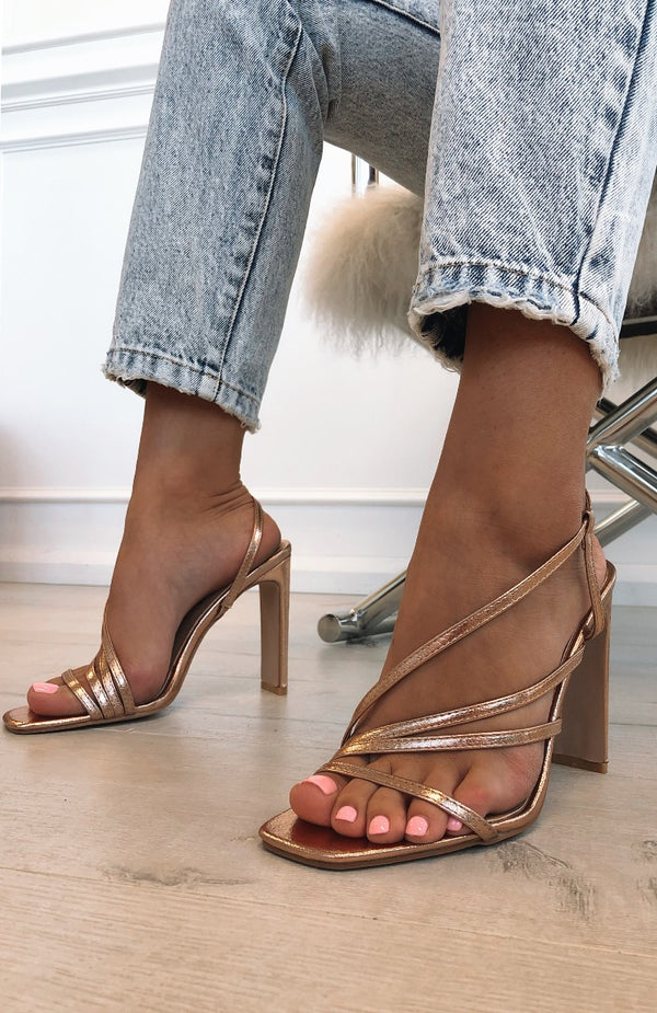 Desi Heels Rose Gold Metallic