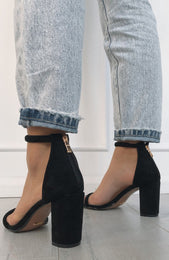 Rodeo Heels Black Suede