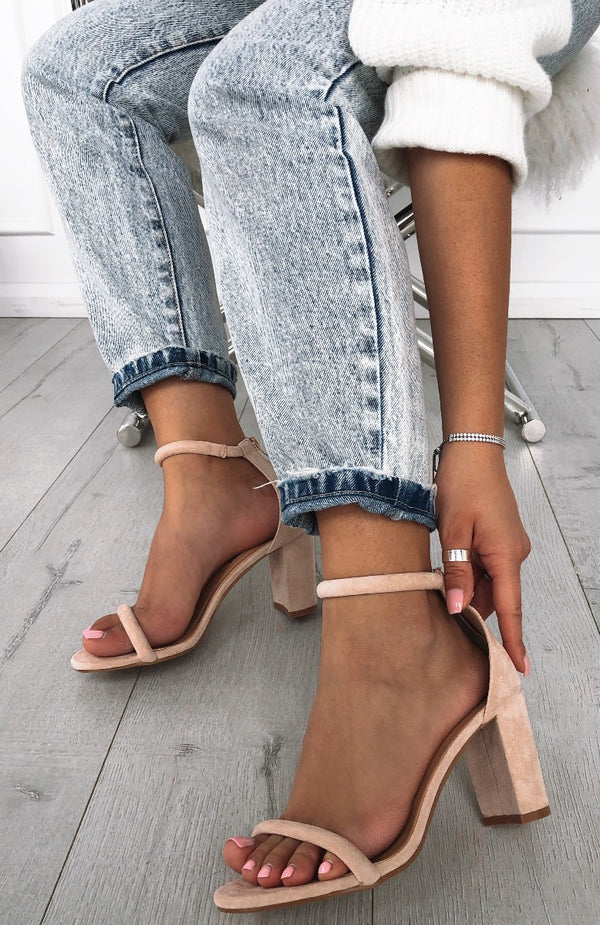 Rodeo Heels Blush Suede