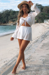 Sweet Sunset Romper White