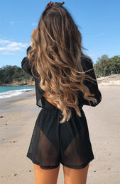 Sweet Sunset Romper Black