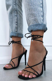 Martini Twist Heels Black