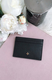 Izzy Card Holder Black Saffiano