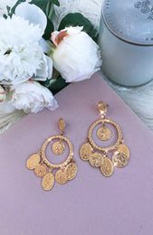 Coin Earrings Gold