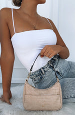 Tal Mini Shoulder Bag Nude Croc