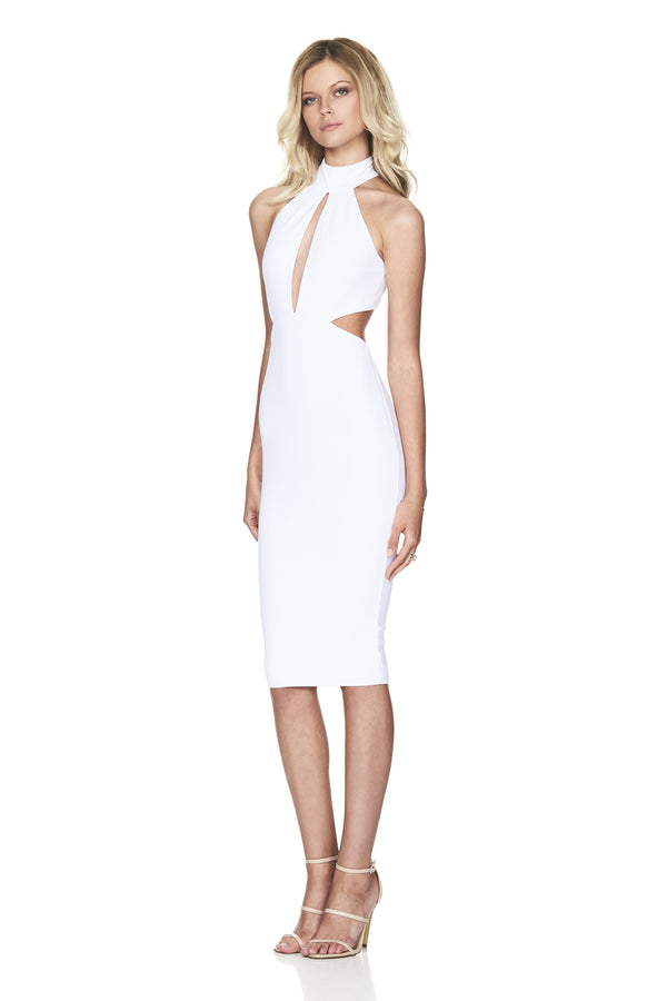Wicked Games Midi Dress White