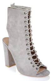 Bambi Boots Light Grey Suede