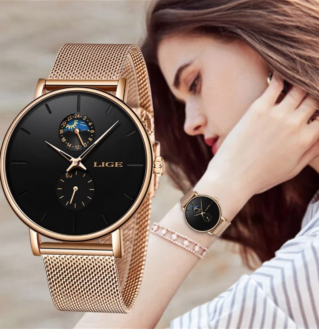 New Women Watch Luxury Brand Watch Simple Quartz Waterproof Wristwatch