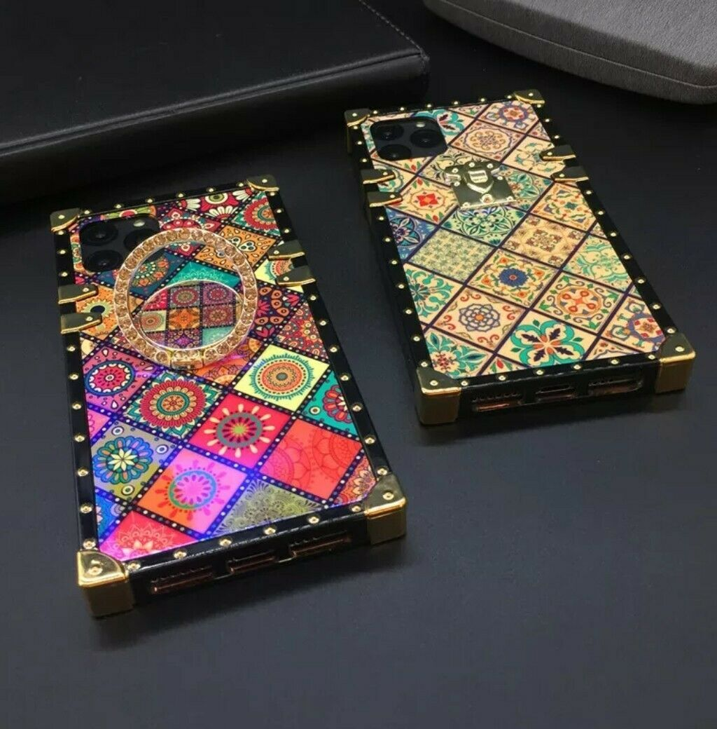 Beautiful phone cases you will absolutely love! Anti-shock, floral phone case comes with a strap and a jeweled ring holder.