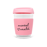 Mental Wealth, 350ml Reusable Glass Keep Cup
