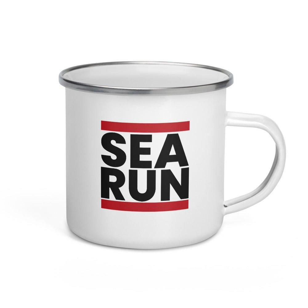 SEA RUN Enamel Mug