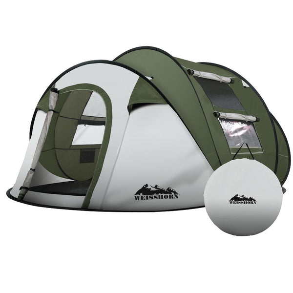 Weisshorn Instant Up Camping Tent 4-5 Person Pop up Tents Family Hiking Beach Dome