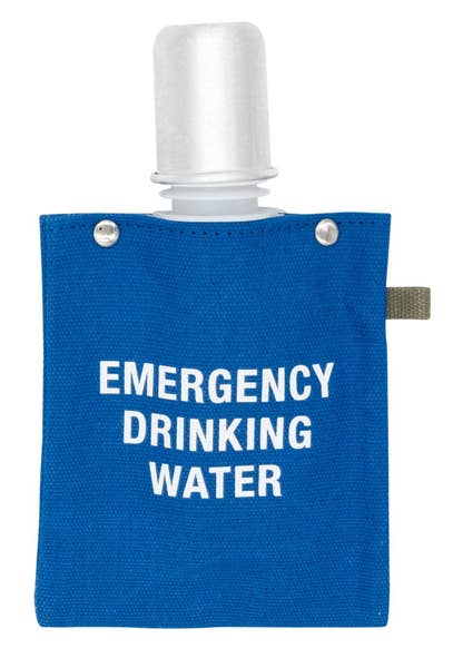 Emergency Drinking Water Canvas Flask