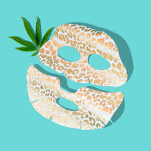 Load image into Gallery viewer, GLAM STRAIGHT : The Gold Foil Leopard Pattern Face Mask with Cannabis Sativa