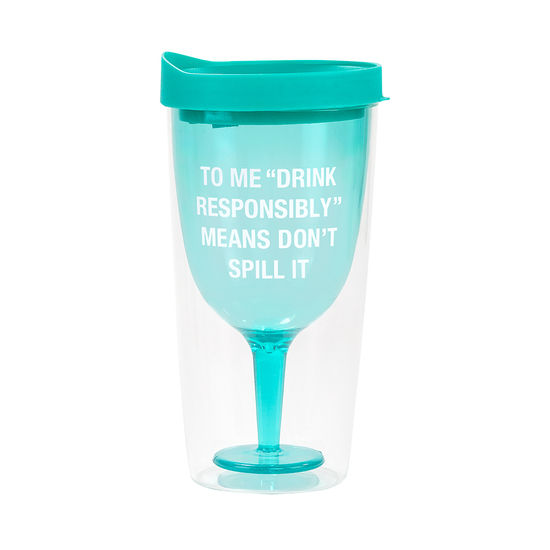 Don't Spill It Wine Tumbler