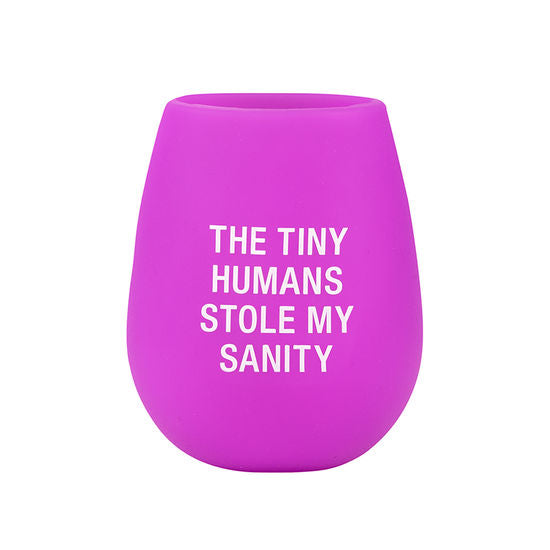 Tiny Humans Stemless Silicone Wine Glass