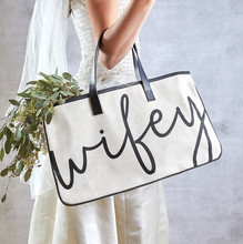 Load image into Gallery viewer, Wifey Canvas Tote