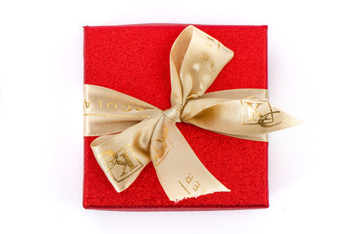 4 Piece Party Favor Box (Available in Red and Gold)