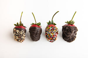 A Dozen Santa Monica Farmers Market Strawberries Hand-Dipped In Belgian Chocolate