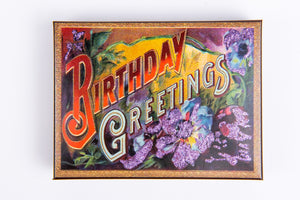 Hand Decorated Box - Birthday Greetings