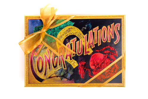 Hand Decorated Box - Congratulations