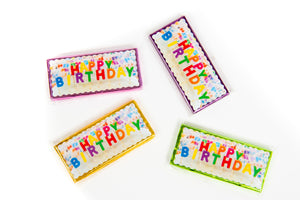 Happy Birthday Belgian Chocolate Bars