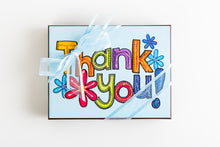Load image into Gallery viewer, Hand Decorated Box - Flower Power Thank You