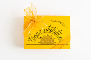 Hand Decorated Box - Congratulations (Gold)