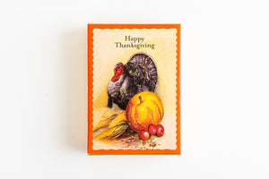 Thanksgiving Hand Decorated Box - Pumpkin & Turkey