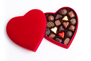 Valentine's Day Velvet Heart Chocolate Gift Boxes