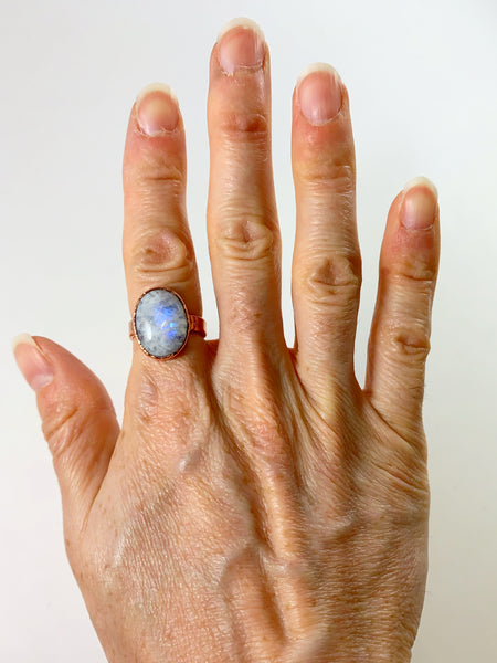 Moonstone Statement Ring | June Birthstone