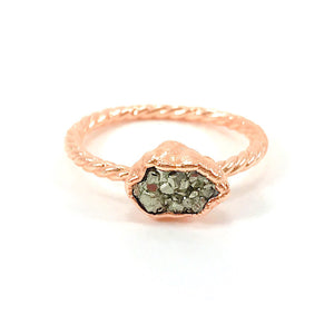 Pyrite Twisted Band Ring