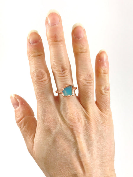Opal Twisted Band Ring | October birthstone