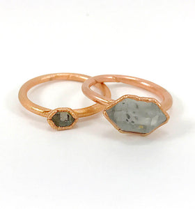 Herkimer Diamond Ring | April Birthstone