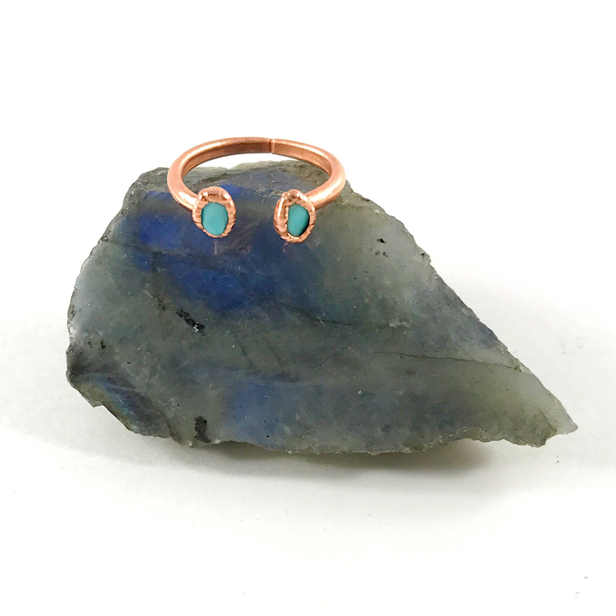 Turquoise Open Ring | December Birthstone