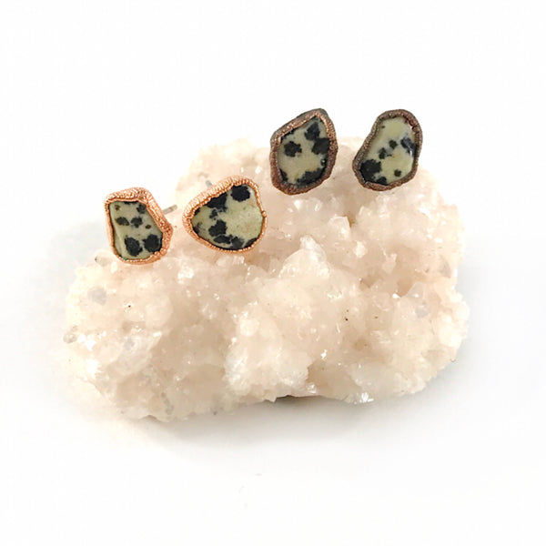 Dalmatian Jasper Stud Earrings
