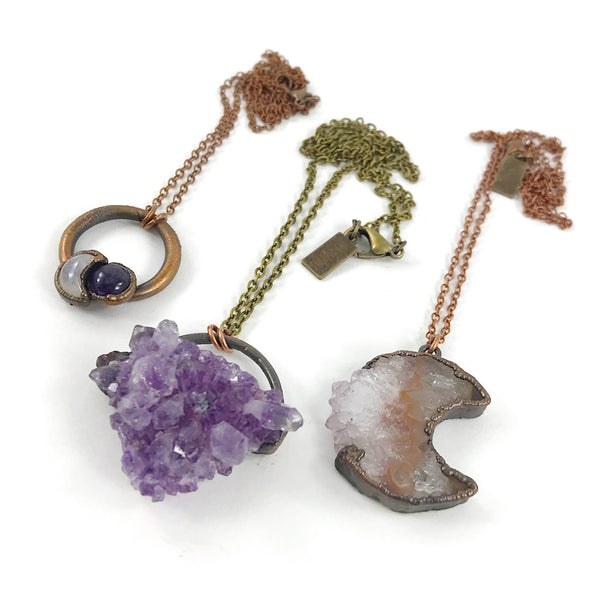 Amethyst Moon Necklace | February Birthstone