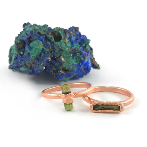 Green Tourmaline Ring | October Birthstone