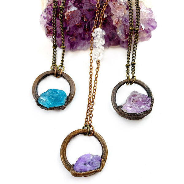Charoite Circle Necklace