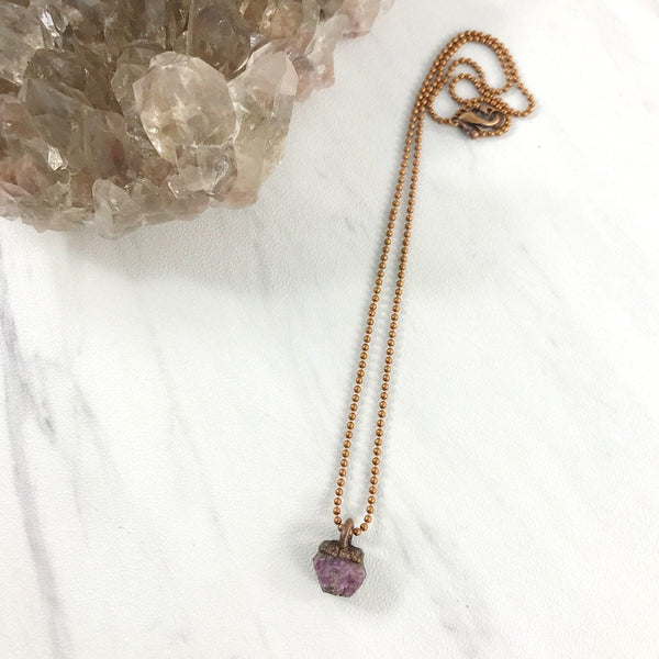 Raw Ruby Necklace | July Birthstone