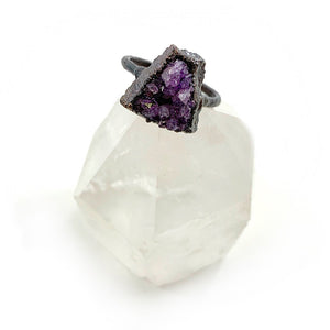 Amethyst Druzy Ring | February Birthstone