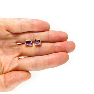 Amethyst Stud Earrings | February Birthstone