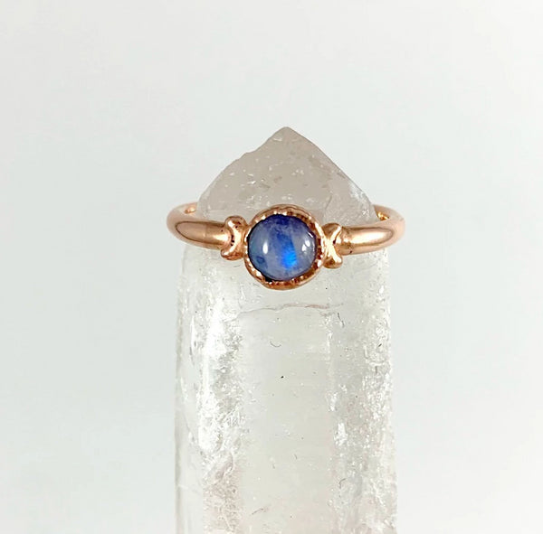 Triple Moon Moonstone Ring | June Birthstone
