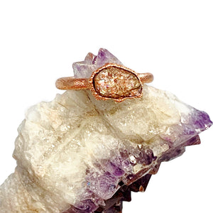 Raw Sunstone Ring