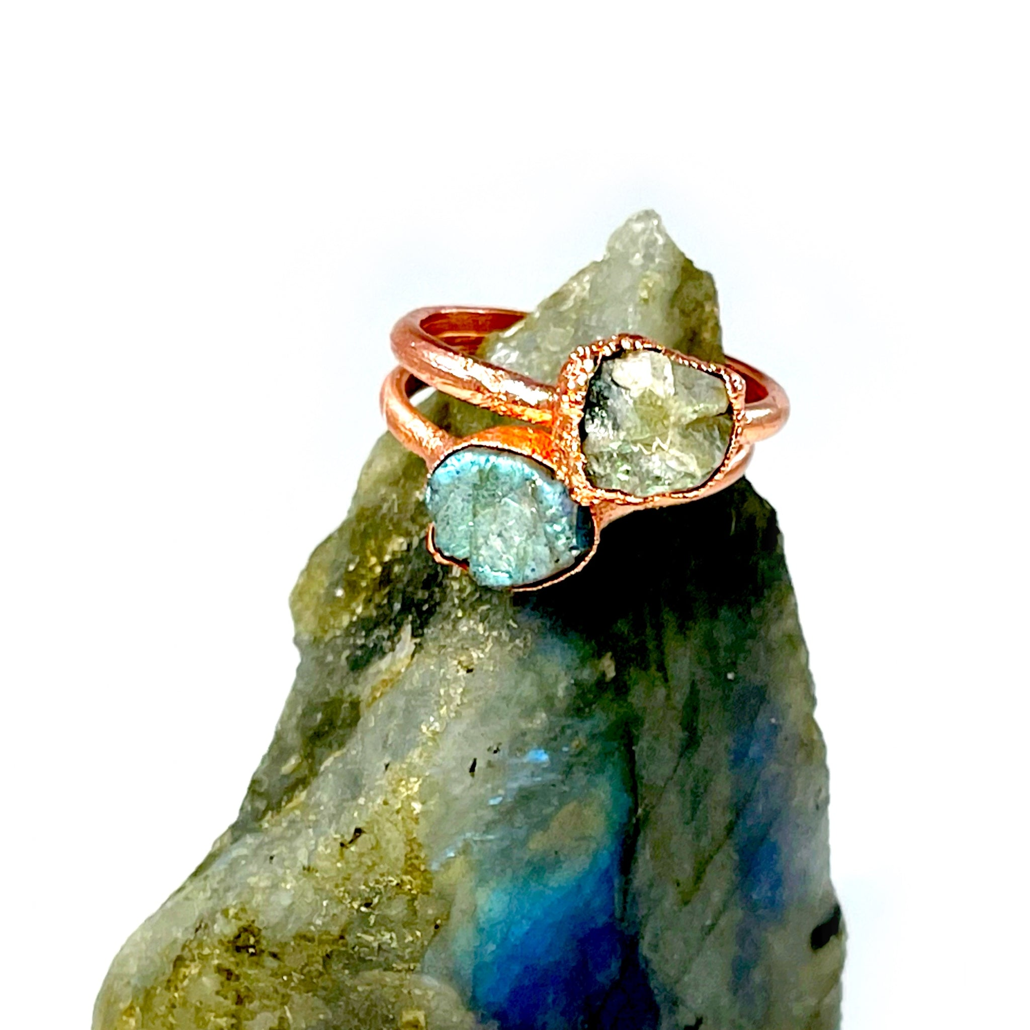 Raw Labradorite Ring