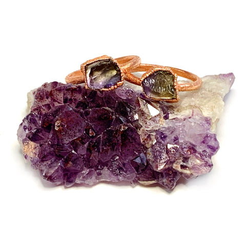 Raw Ametrine Ring